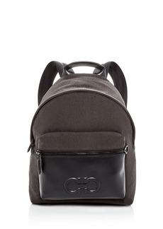 Salvatore Ferragamo Firenze Nylon & Leather Backpack