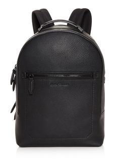 Salvatore Ferragamo Firenze Pebbled Leather Backpack