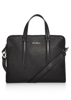 Salvatore Ferragamo Firenze Tumbled Calfskin Slim Briefcase