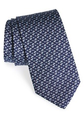 Salvatore Ferragamo Fish Print Silk Tie