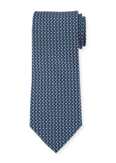 Ferragamo Flag-Pattern Silk Tie
