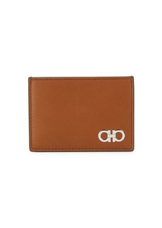 Ferragamo Flat Leather Card Case