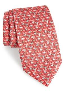 Salvatore Ferragamo Flip Print Silk Tie