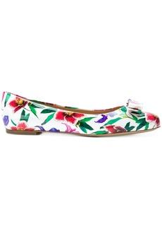 Salvatore Ferragamo floral print ballerina shoes - Multicolour