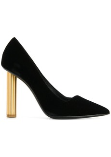 Salvatore Ferragamo flower heel pumps - Black