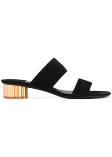 Salvatore Ferragamo flower heel sandals - Black