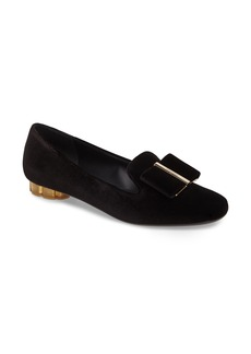 Salvatore Ferragamo Flower Heel Smoking Loafer (Women)