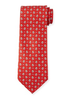 Ferragamo Football Lion Silk Tie