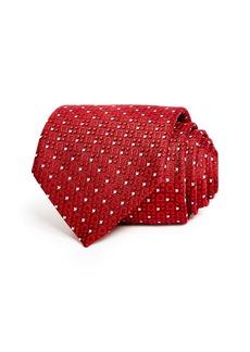 Salvatore Ferragamo Formia Woven Gancini Classic Silk Tie