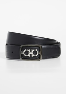 Salvatore Ferragamo Framed Double Gancio Adjustable Belt