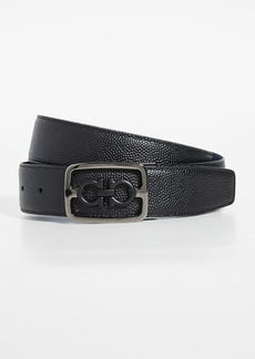 Salvatore Ferragamo Framed Double Gancio Belt