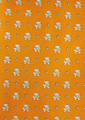 Salvatore Ferragamo Frog Print Silk Tie