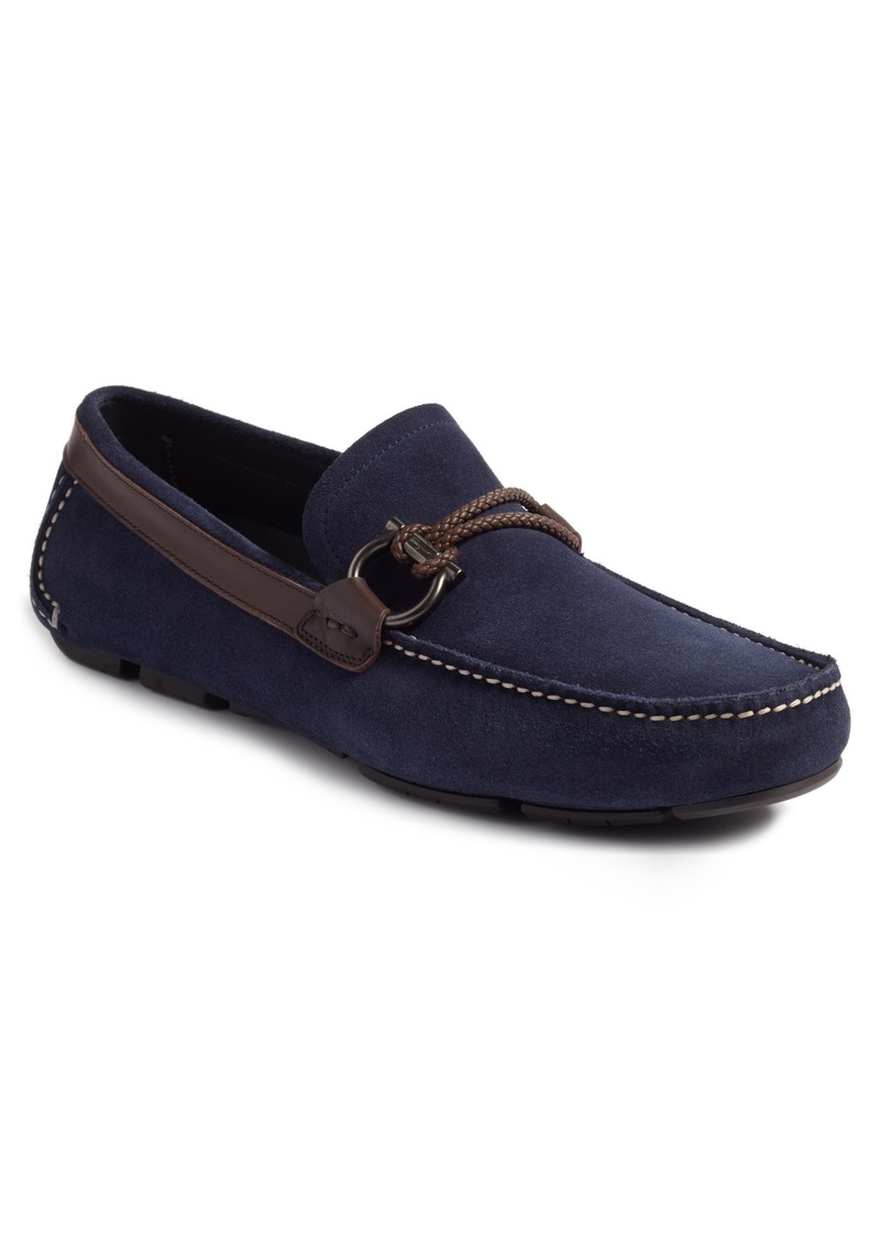 Ferragamo Salvatore Ferragamo Front Braided Bit Driving Shoe (Men ... 99e4d541af