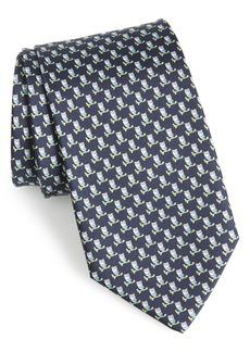 Salvatore Ferragamo Fufo Print Silk Tie