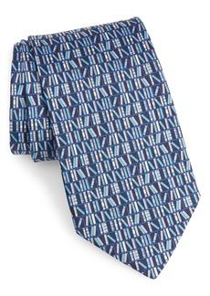 Salvatore Ferragamo Full Print Silk Tie