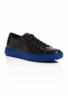 Salvatore Ferragamo Constrasted Outsole Leather Sneaker