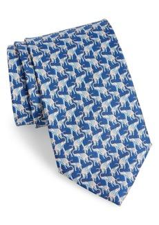Salvatore Ferragamo Fumbo Print Silk Tie