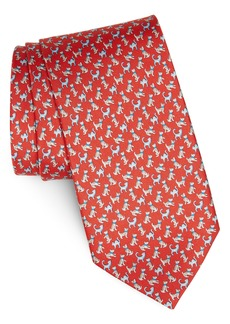 Salvatore Ferragamo Game Print Silk Tie