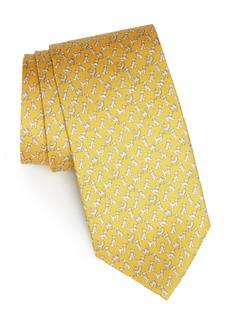 Salvatore Ferragamo Game Print Silk Tie