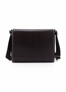 Ferragamo Men's Gamma Gancini-Embossed Men's Messenger Bag