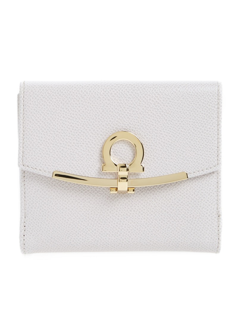 d5d4196453419 Ferragamo Salvatore Ganchio Medium French Wallet Handbags. Gancini Zip  Around Wallet