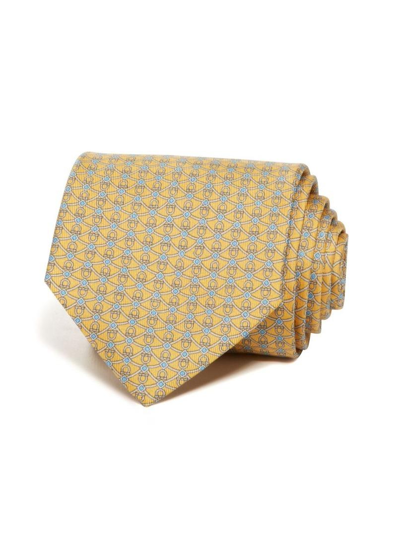 Salvatore Ferragamo Gancini and Diamond Classic Tie