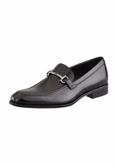 Ferragamo Men's Gancini-Bit Loafer Black