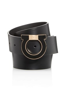 Salvatore Ferragamo Men's Gancio Buckle Leather Belt
