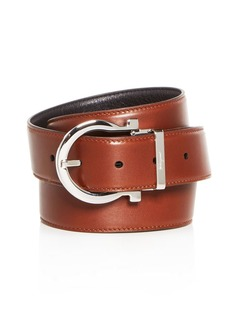 Salvatore Ferragamo Men's Gancini Buckle Reversible Leather Belt