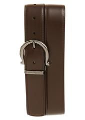 Salvatore Ferragamo Gancini Calfskin Leather Belt