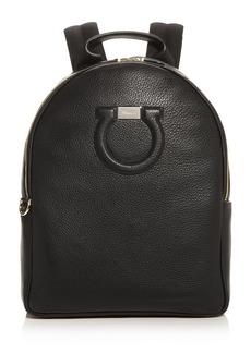 Salvatore Ferragamo Gancini City Large Leather Backpack