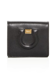 Salvatore Ferragamo Gancini City Leather Bi-Fold Card Case