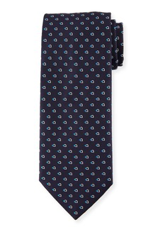 Ferragamo Gancini Dot Silk Tie