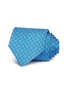 Salvatore Ferragamo Gancini Florettes Silk Classic Tie