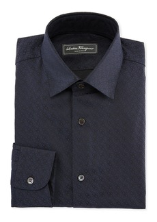Ferragamo Men's Gancini Jacquard Cotton Sport Shirt