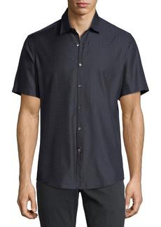 Ferragamo Men's Gancini-Jacquard Short-Sleeve Sport Shirt