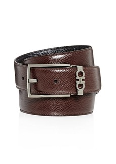Salvatore Ferragamo Gancini Keeper Reversible Leather Belt