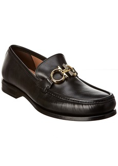 Salvatore Ferragamo Gancini Leather Moccasin