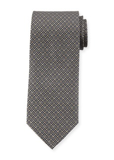 Ferragamo Gancini Pattern Silk Tie