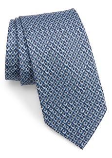 Salvatore Ferragamo Gancini Pattern Silk Tie