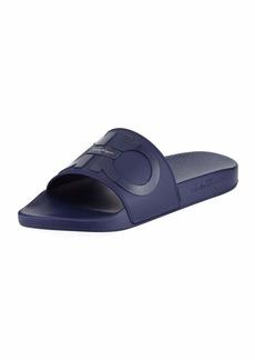 Ferragamo Men's Gancini Pool Slide Sandals