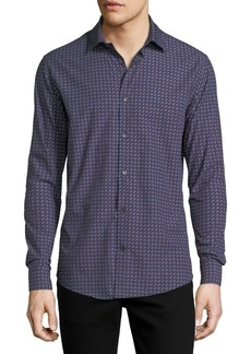 Ferragamo Men's Gancini-Print Cotton Sport Shirt