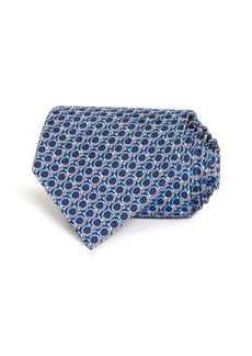 Salvatore Ferragamo Gancini Print Silk Classic Tie