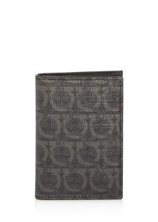 Salvatore Ferragamo Gancini-Print Vertical Card Case