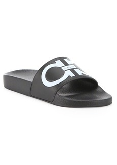 Ferragamo Women's Gancini Rubber Pool Slides