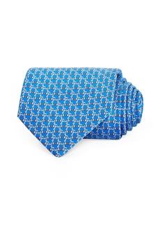 Salvatore Ferragamo Gancini Silk Classic Tie