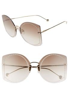 Salvatore Ferragamo Gancino 63mm Oversize Gradient Rimless Butterfly Sunglasses