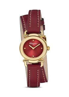Salvatore Ferragamo Gancino Casual Red Leather Watch, 26mm