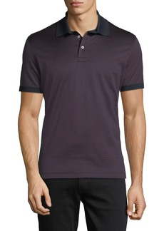 Ferragamo Men's Gancino-Jacquard Knit Polo Shirt