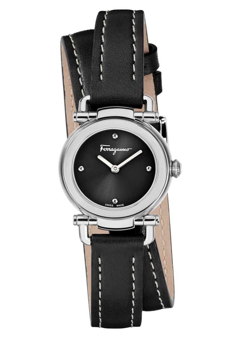 6a33e7355f7 Ferragamo Salvatore Ferragamo Gancino Leather Strap Watch, 26mm ...